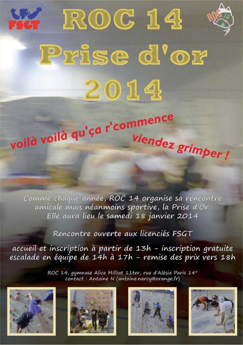 Samedi 18 Janvier 2014 – «Prise d'Or» – Adultes