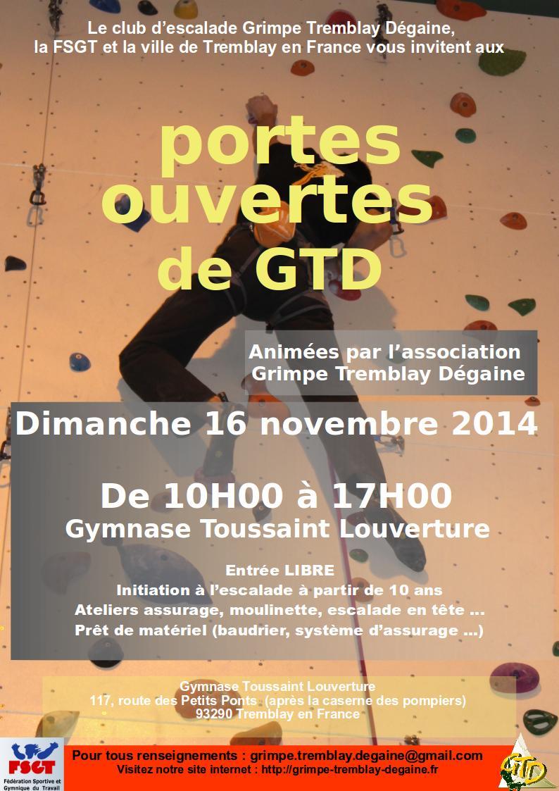 Dimanche 16 Novembre 2014 – Portes ouvertes GTD