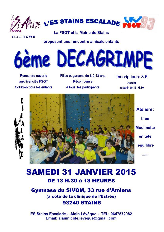 Samedi 31 janvier 2015 – « Décagrimpe » à Stains (93) – Jeunes