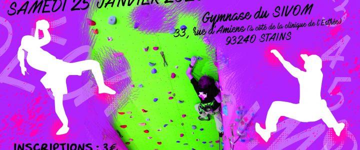 Rencontre DECAGRIMPE Stains 25 Janvier 2020 #Jeunes #8-13 ans