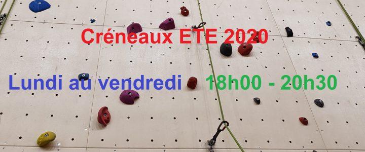 Créneaux ETE 2020